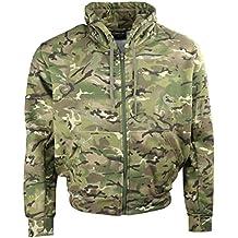 Kombat UK–Chaqueta de camuflaje sudadera con capucha con cremallera, hombre, color BTP (British Terrain Pattern), tamaño L
