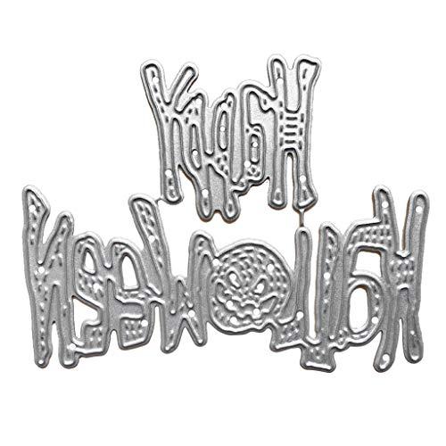 Ruda Happy Halloween Stanzschablone DIY Scrapbooking Prägung Dekoration für Album Stempelkarte