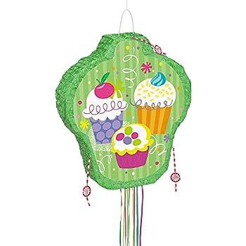Unique Party 40101 Pinata Fête Cupcake Avec Ficelle à
