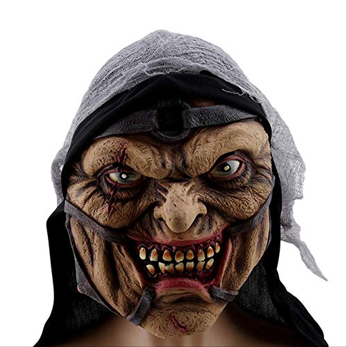 EBYTG DFRTYG Maske Gruselige Beängstigend Kostüm Maske Für Erwachsene Party Horror Prop Halloween Liefert Halloween Cosplay Halloween Maske Zauberer (Kinder Beängstigend Alien Kostüm)