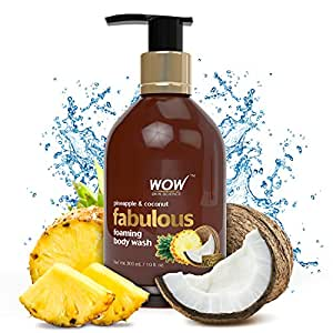 WOW Pineapple & Coconut No Parabens & Sulphates Shower Gel, 300mL