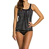 bobo4818 Tankini,Badekleid, Damen Bandeau Push Up Tankini Cut Out Bauch Weg Effekt (XXXL)