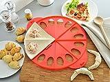 ELICUISINE 0134820134822in1 Croissant-Backform, Kunststoff, Rot 37,5x 30,5x 1,8cm