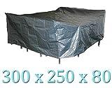 Wasserdichte Schutzhülle grau 300x250x80cm für grosse Sitzgruppen oder Sitzgarnituren in einer tollen Qualität 140g/m² PP-Wooven Material