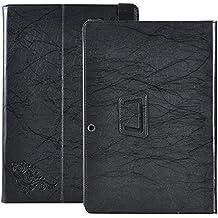 avidet CHUWI hi10Plus Carcasa Case Funda, Slim Fit Folio Premium Smart Cover–Funda de piel sintética con función atril para CHUWI hi10Plus–Tablet PC negro negro