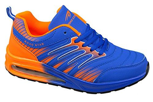 gibra, Sneaker donna blau/neonorange