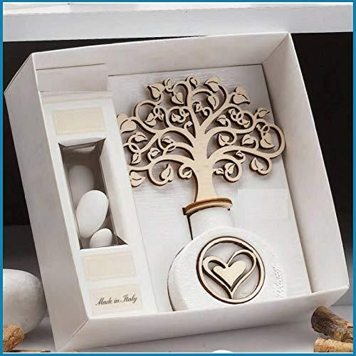 Bomboniere profumatore albero della vita ginevra (scatola e bigliettini per bomboniera inclusi)
