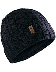 Gill Cable Knit Beanie in Navy HT32