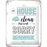 Nostalgic-Art 26199 Word Up - My House was clean, Blechschild 15x20 cm