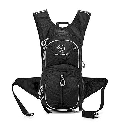12L Licht Outdoor Reiten Rucksack Bergsteigen Daypack Wasserdicht Sport Reise Packable Tasche(mit Helm netzbeutel) für Camping Angeln Reise Radfahren Skifahren
