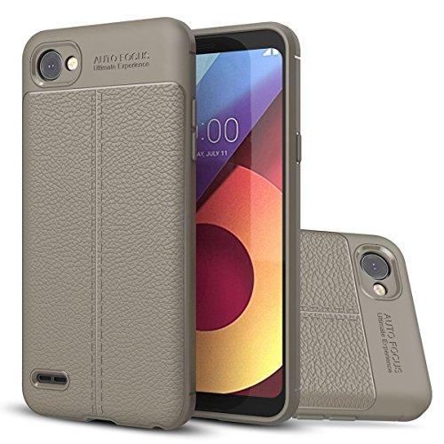 LG Q6 Weich Hülle,EVERGREENBUYING flexibel Silikon Cover TPU Q6+ / Q6? Tasche Ultra-dünne Handyhülle Rückschale Case für LG Q6 / Q6 Plus / G6 Mini (5.5 inch) Rot Grau