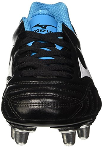 Mizuno Waitangi Cl, Chaussures de Rugby Homme Noir (Black/White/Atomic Blue)
