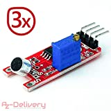 AZDelivery KY-038 Klangerfassungsmodul Mikrofon Voice- Ton Sensor für Arduino, 3er Set
