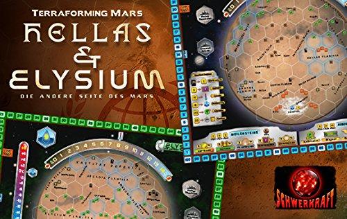 Terraforming Mars: Hellas & Elysium Erweiterung (Die Bauherren Brettspiel)