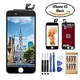 iPhone 6S LCD Touch Bildschirm Digitizer Reparaturset TPEKKA Komplettes Display Glas Ersatz Set für iPhone 6s DIY Installation mit Werkzeuge (Schwarz)