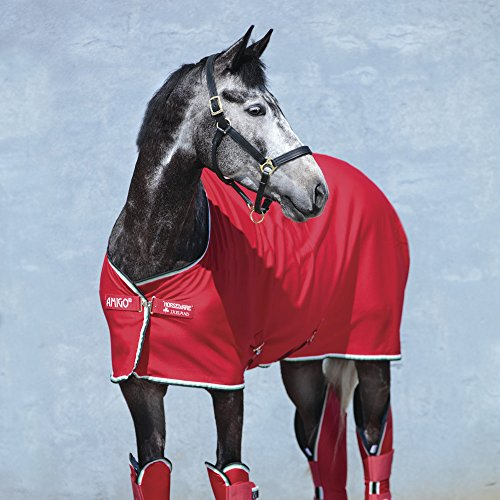 Red Cooler (Horseware Amigo Jersey Cooler - Red/White, Größe:130)