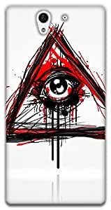 The Racoon Lean printed designer hard back mobile phone case cover for Sony Xperia C3. (Doodler)