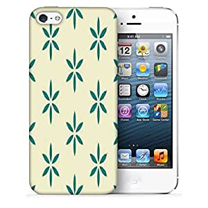 Snoogg Green In Cream Printed Protective Phone Back Case Cover For Apple Iphone 5 / 5S