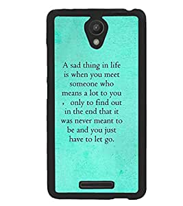 Fuson Missing Quote Metal Printed With Hard Plastic Back Case Cover For Xiaomi Redmi Note 2 Pro
