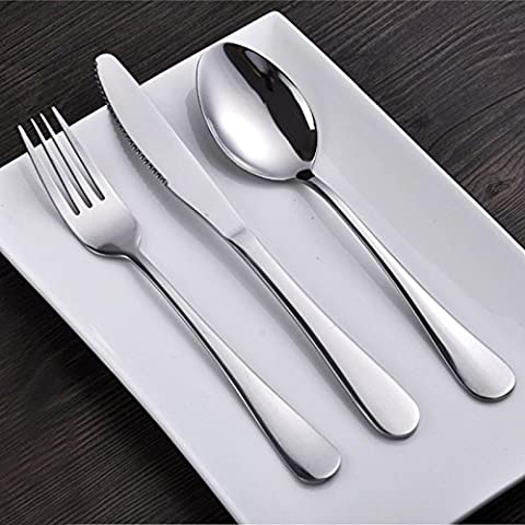 yifom tre coltello da bistecca in acciaio inox e cucchiaio