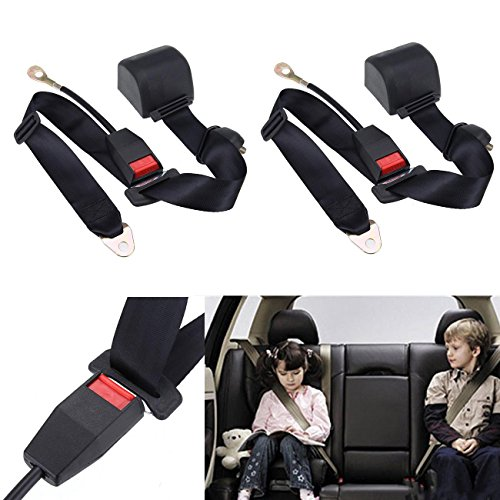 Ridgeyard Adjustable Retractable 3-Point Safety Car Van Seat Lap Belt Seatbelt Waistband
