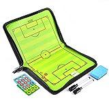 AGPTek® Coach-Board Coach-Mappe für Fußball Professional Fußball Taktikmappe, mit Magnete, Stifte, Radiergummi - 2