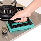 #6: House Of Quirk 3Pc Sponge Brush Floor Tile Scrubber Polisher Cleaning Brush Set Thick Sponge Wipe Clean Brush Kitchen Ceramic Tile Cleaning