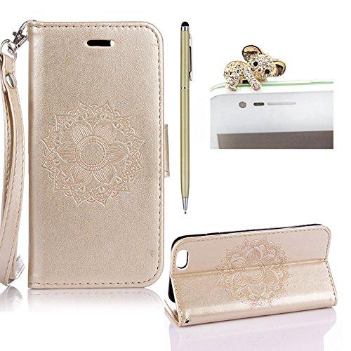 custodia iphone 6 portafoglio oro