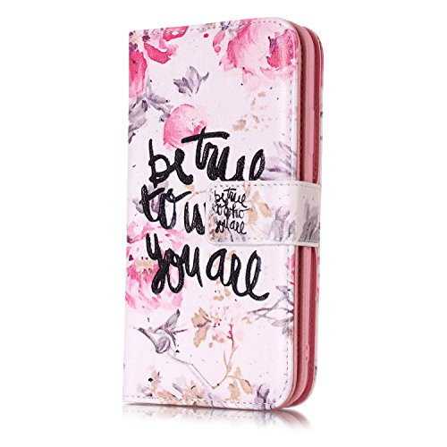 inShang Hülle für iPhone X 5.8 inch mit integriertem Brieftaschen-Design, iPhoneX 5.8inch cover case mit Standfunktion. Be you are