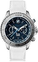 Ice-Watch - BMW Motorsport (steel) White - Montre blanche pour homme avec bracelet en cuir - Chrono - 001120 (Large)
