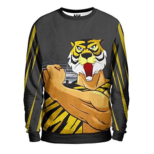 L'UOMO TIGRE Sweatshirt Man - Felpa Uomo - Tiger Mask, Giappone Japan Anime Manga T-Shirt Cartoon Cartone Fumetto