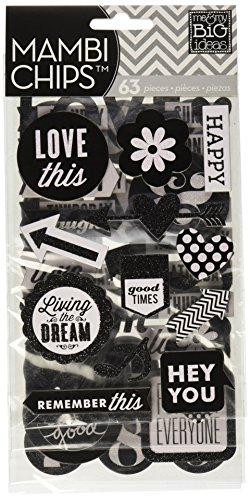 Unbekannt Me & My Big Ideas Sticker-Set aus Spanplatte, Hey-You-Design, englischsprachige Aufschriften
