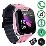 Smart Watch Wasserdicht-Touchscreen Mobile Smartwatches für Mädchen Jungen, SOS-Anti-Lost-SIM-Karte Smartwatch mit Kamera, Spiel für Kinder Geschenk
