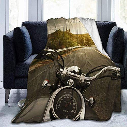 Fleece-Decke-Reiten Motorrad unterwegs Super weiche warme gemütliche Bettdecke Plüsch leichtes Sofa,102 x 127 cm (50 x 40 Zoll) -