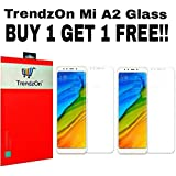 TrendzOn Flexible Tempered Glass, 9H Hardness Ultra Clear, Anti-Scratch, Bubble-free and Oil Stains Coating for Xiaomi Red Mi A2 (Transparent) -Pack of 2