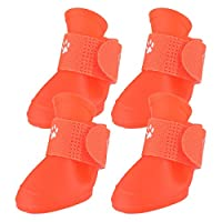 RainBabe Pet Dog Waterproof Rain Shoes Boots Non-Slip Shoes