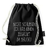 Über 40 Sprüche & Designs auswählbar / Sambosa Turnbeutel mit Spruch / Beutel: Schwarz / Rucksack / Jutebeutel / Sportbeutel / Hipster - 5