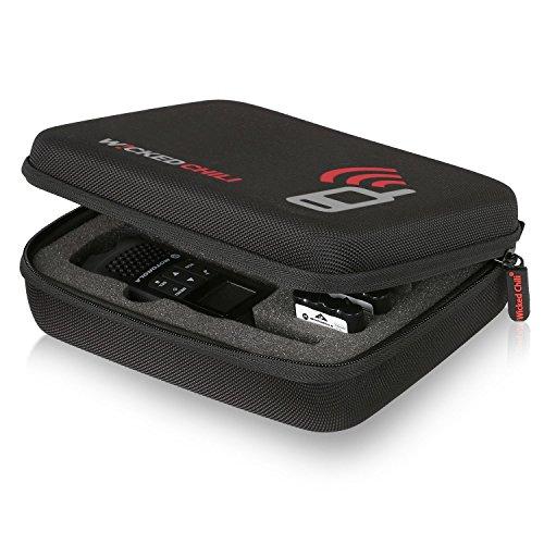 Salacious Chili Funkgerät The reality für Motorola TLKR T50 / T60 - Tasche für Zwei Handgeräte, Akkus und Zubehör (Größe: M, Utensilienfach mit Zipper und Trageriemen), TLKR T50 / T60