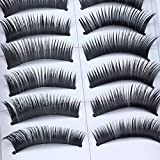 #9: Natural Handmade Make Up Long False Eyelashes 10 pairs
