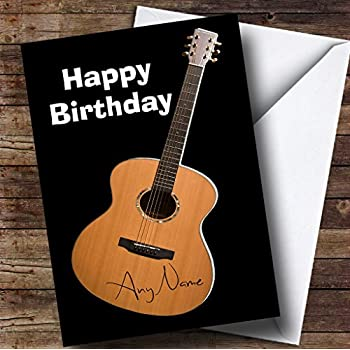 Electric guitar personalised birthday card amazon office signed guitar funny personalised birthday card bookmarktalkfo Choice Image