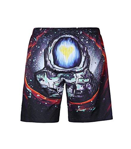 NiSeng Homme Mode Impression Numérique Shorts De Plage Boardshorts Surf Shorts 07