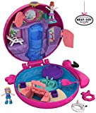 Polly Pocket Coffret Univers La Piscine du Flamant Rose avec 2 Mini-Figurines et Accessoires, Autocollants et 5 Surprises Cachées, Jouet Enfant, édition 2018, FRY38