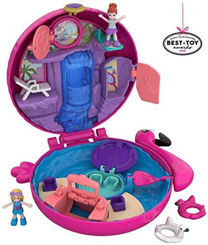World Flamingo Schwimmring Schatulle Puppen Spielset, zum Sammeln, Mädchen Spielzeug ab 4 Jahren ()