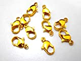 #4: Lobster clasps finding gold plated for jewelry making/bracelets/necklace 25 pcs
