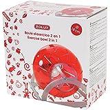 Zolux 2-in-1-Hamsterball / Laufkugel, 18cm Durchmesser, Kirschrot