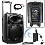 QTX QR10PA Portable PA System with VHF Wireless Headset Microphone | Battery Powered