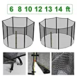 Greenbay 6ft 8ft 10ft 12ft 13ft 14ft Replacement Trampoline Safety Net Enclosure Surround