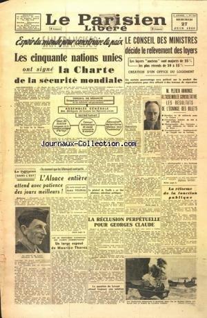 PARISIEN LIBERE (LE) [No 269] du 27/06/1945
