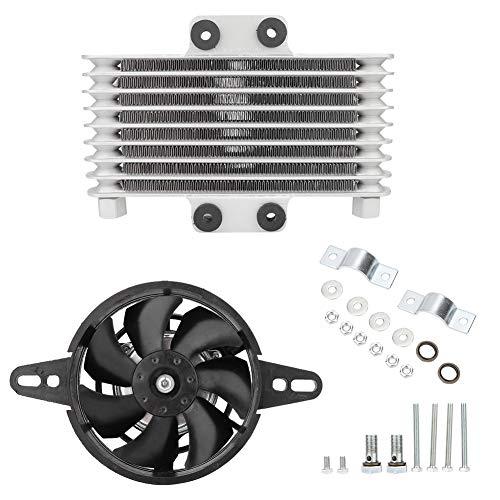 Gorgeri lega di alluminio universale di aggiornamento di alluminio per moto Olio motore ventola di raffreddamento del dispositivo di raffreddamento del radiatore acqu
