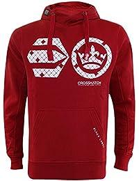 Crosshatch Mens Classic Pullover Print Hoodie Sweatshirt Top